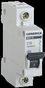 Автоматический выключатель GEN-1-025-C, ВА47-29, 1Р, 25А, 4,5кА, х-ка С