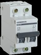 Автоматический выключатель GEN-2-025-C, ВА47-29, 2Р, 25А, 4,5кА, х-ка С