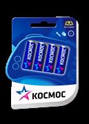 Батарейка  пальчиковая, солевая, блистер, АА, 4 шт. КОСМОС