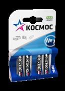 Батарейка  мизинчиковая, алкалиновая, блистер, ААА, 4 шт. KOCМОС