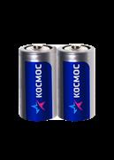 Батарейка  R20, солевая, пленка, С,  2 шт.