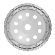 Круг алмазный сегментный чашечный шлифовальный двурядный 180 мм