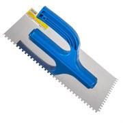 Гладилка зубчатая, 130 х 270 мм, нержав. сталь, пластиковая рукоятка, зуб 4 х 4 мм (Remocolor) (шт.)