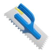 Гладилка зубчатая, 130 х 270 мм, нержав. сталь, пластиковая рукоятка, зуб 6 х 6 мм (Remocolor) (шт.)