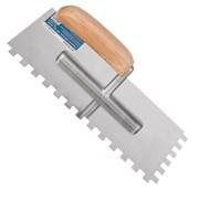 Гладилка зубчатая, 130 х 280 мм, нержав. сталь, дерев. рукоятка, зуб 10 х 10 мм (Remocolor) (шт.)