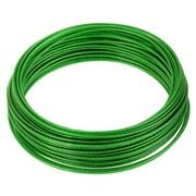 Трос металлополимерный зеленый ПР-2.5,  20м