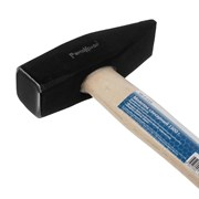 Молоток слесарный кованый, деревянная рукоятка, 1500 г