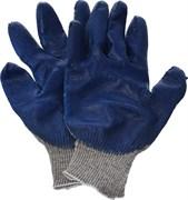 Перчатки трикотажные с плотным латексным обливом, утепленные