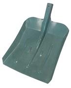Лопата снегоуборочная металлическая, порошковая окраска, 390х370 мм