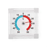 Термометр оконный, биметаллический, квадратный, ТББ, 10x70x75 мм