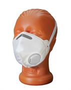 Полумаска фильтрующая складная с клапаном, класс защиты FFP1, 20 шт, (уп.)