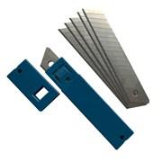 Лезвия сменные для ножа, 14 сегментов, японская сталь SK5, 18х100мм, толщина 0,5мм,10шт, (уп.)