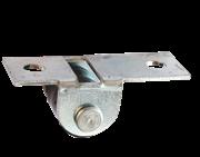 Ролик мебельный выкатной № 531-01, оцинкованная опора, 2 шт, (уп.)