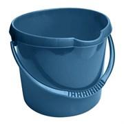 Ведро пластиковое, 12 л, с выемкой для руки, голубое