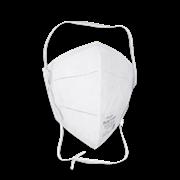 Полумаска фильтрующая складная тип защиты FFP2, 20 шт Rutex, (уп.)