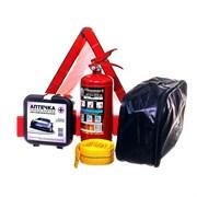Набор автомобилиста, 5 предметов: трос, аптечка, огнетушитель, перчатки, знак