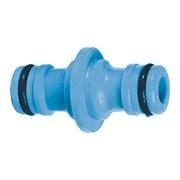 Переходник-соединитель штуцерный, для шланга,  двухсторонний, пластиковый , (шт.)