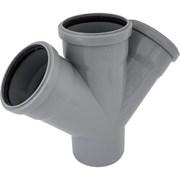 Крестовина канализационная, серая, 45 градусов, 110мм