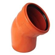 Отвод канализационный, наружная, рыжий, 45 градусов, 110мм