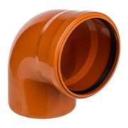 Отвод канализационный, наружная, рыжий, 90 градусов, 110мм
