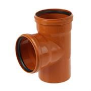 Тройник канализационный, наружный, рыжий, 90 градусов, 110мм
