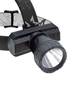 Фонарь светодиодный аккумуляторный, налобный, 3Вт,  180Лм, Li-Ion 1000mAh