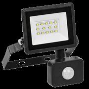 Прожектор с датчиком движения светодиодный СДО 06-20Д, черный IP54 6500K