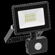 Прожектор с датчиком движения светодиодный СДО 06-30Д, черный IP54 6500K
