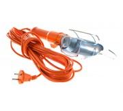 Светильник переносной ПВС 2х0,5мм², 6А,  керамический патрон Е27, с выключателем, 15м, (шт.)