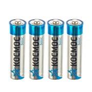 Батарейка пальчиковая, LR6, алкалиновая, пленка,,  АА, 4 шт., (уп.)