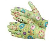 Перчатки из полиэстера, садовые с полимерным покрытием ладони и пальцев, размер М (шт.)