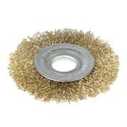 Щетка-крацовка для УШМ, дисковая, 100 мм, посадочный диаметр 22,2 мм (Hobbi) (шт.)