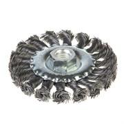 Щетка-крацовка дисковая, крученная проволока, диаметр 100мм, посадочная гайка М14 (Hobbi) (шт.)