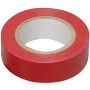 Лента клейкая, изоляционная, ПВХ, красная, 19 мм х 20 м (Hobbi) (шт.)