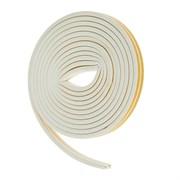 Уплотнитель для окон D-профиль (резиновый) на клейкой основе белый 10м    (шт.)